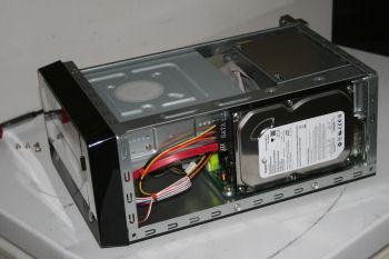 View of hard drive