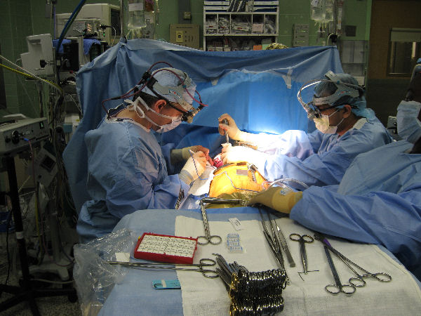 Albert in surgery (actual photo)