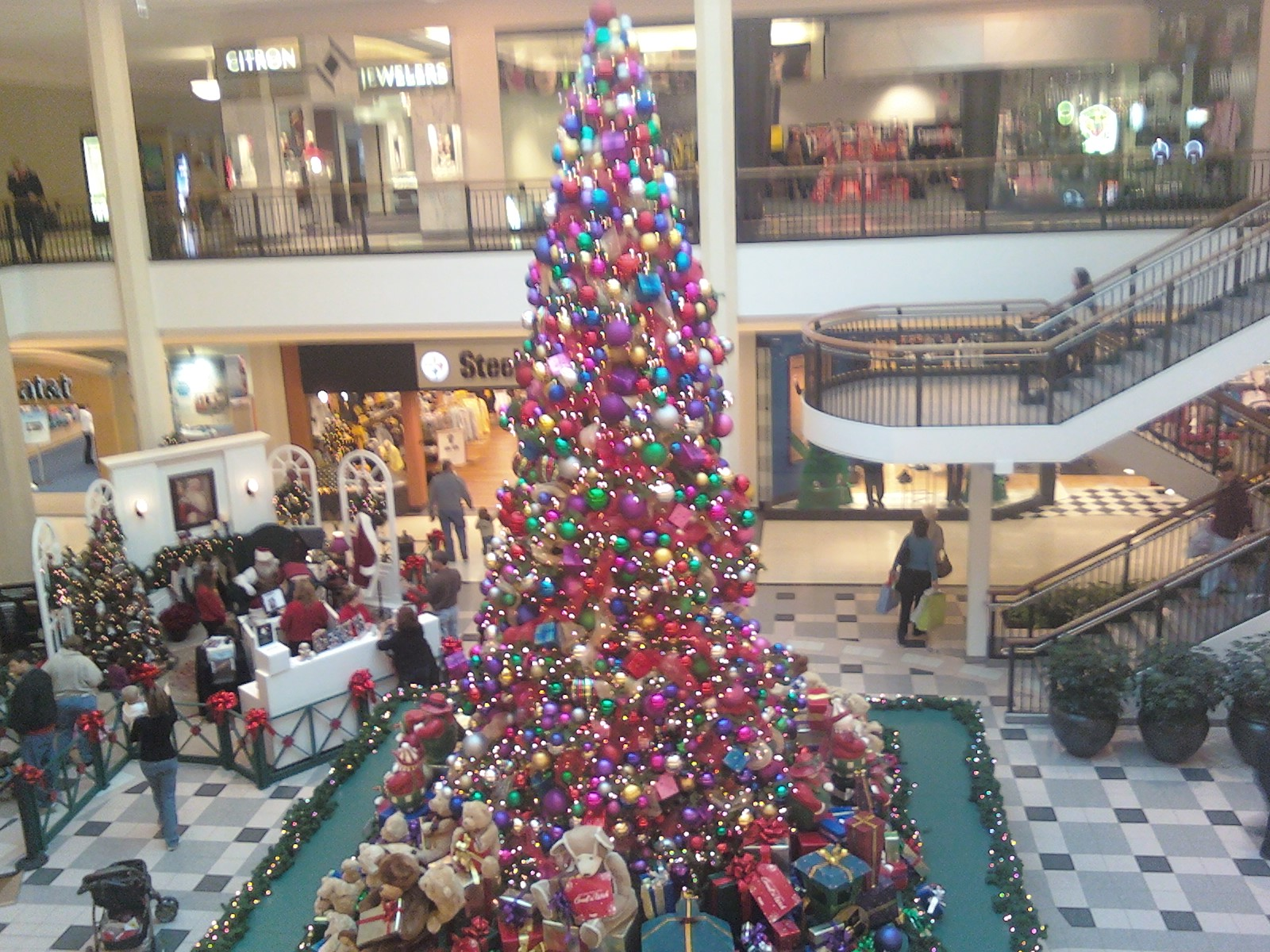 So many ornaments, you can hardly see the tree...
