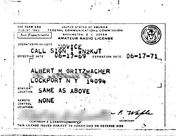 My Novice License