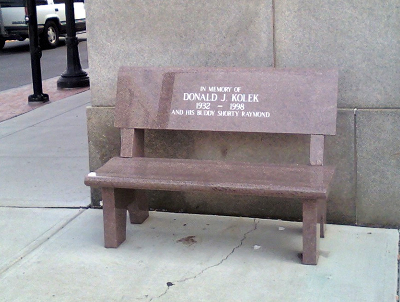 A bench for friends