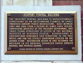 Federal Building Plaque