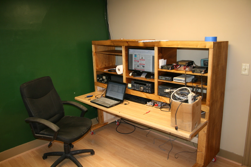 Wide view of desk