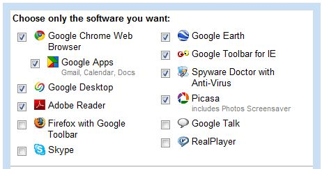 Select your applications...