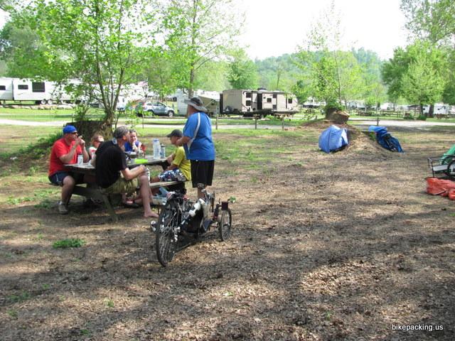 Tent camping at Rivers Edge