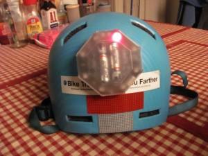 On the helmet