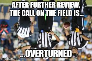 Decision overturned